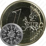 1 евро 2009, регулярный чекан Португалии
