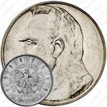 10 злотых 1934, орел с короной