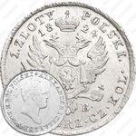 1 злотый 1824, IB