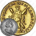 2 рубля 1723, погрудный портрет в античных доспехах