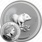 1 доллар 2007, год свиньи