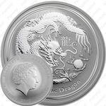 1 доллар 2012, год дракона