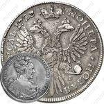 1 рубль 1727, СПБ, Екатерина, петербургский тип, сорочий хвост
