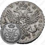 1 рубль 1740, СПБ, Редкие