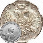 1 рубль 1754, СПБ-BS-ЯI