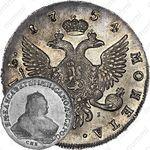 1 рубль 1754, СПБ-ЯI