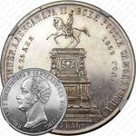 1 рубль 1859, монумент Николая I на коне (плоский чекан)