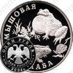 1 рубль 2004, жаба