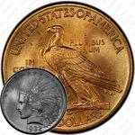 10 долларов 1932, голова индейца