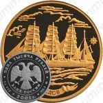 1000 рублей 2001, барк Седов