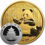 200 юаней 2017, панда