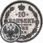 10 копеек 1883, СПБ-АГ