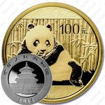 100 юаней 2015, панда