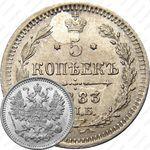 5 копеек 1883, СПБ-АГ