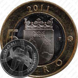 Медно-никелевая монета 5 евро 2011, Карелия