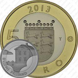 Медно-никелевая монета 5 евро 2013, дом