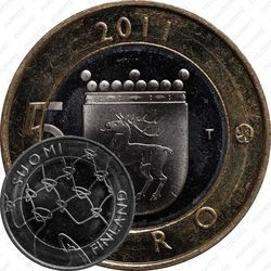 Медно-никелевая монета 5 евро 2011, Аландские острова