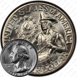 Медная монета 25 центов 1976, барабанщик