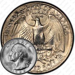 Медная монета 25 центов 1983