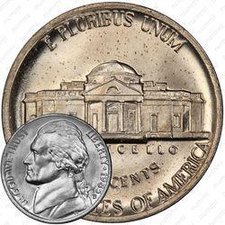Медно-никелевая монета 5 центов 1985, Томас Джефферсон