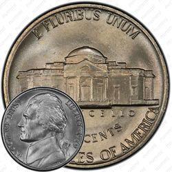 Медно-никелевая монета 5 центов 1979, Томас Джефферсон