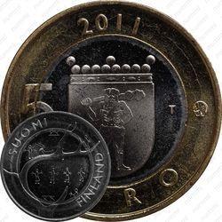 Медно-никелевая монета 5 евро 2011, Лапландия