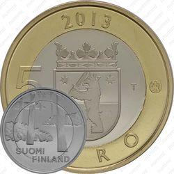 5 евро 2013, некрополь Саммаллахденмяки