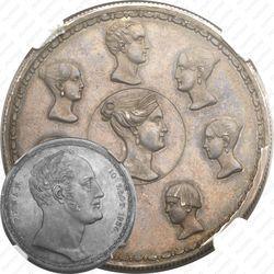 Серебряная монета 1 1/2 рубля - 10 злотых 1836, семейный