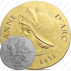 Золотая монета 200 евро 2016, Жанна д'Арк