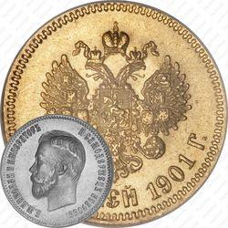 Золотая монета 10 рублей 1901, АР