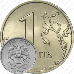 1 рубль 2005, СПМД, штемпель Б