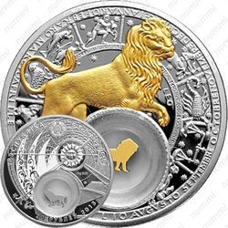 Серебряная монета 20 рублей 2013, лев