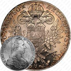 Серебряная монета 1 талер 1780, талер Марии Терезии