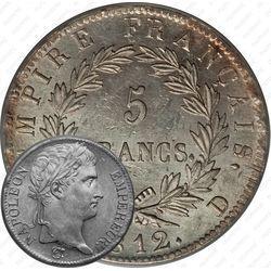 Серебряная монета 5 франков 1812