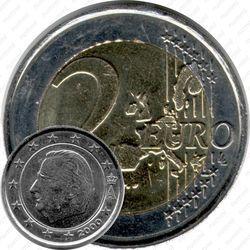 Медно-никелевая монета 2 евро 2000