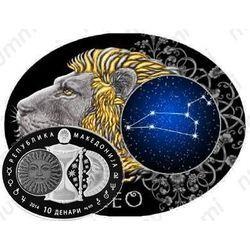 Золотая монета 10 денаров 2014, лев