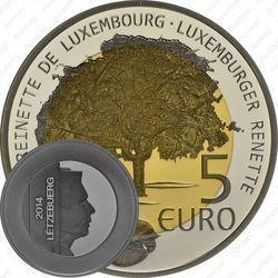 Серебряная монета 5 евро 2014, Люксембургский ранет