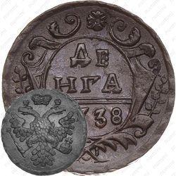Медная монета денга 1738