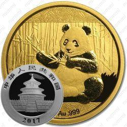 Золотая монета 100 юаней 2017, панда