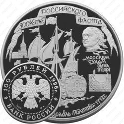 Серебряная монета 100 рублей 1996, Полтава