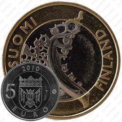 Медно-никелевая монета 5 евро 2010, Исконная Финляндия