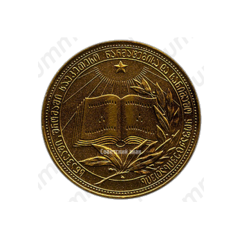 Золотая школьная медаль Грузинской ССР