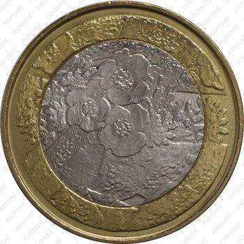 Медно-никелевая монета 5 евро 2012, флора (реверс)