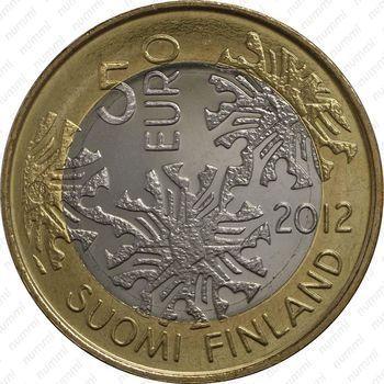 Медно-никелевая монета 5 евро 2012, флора (аверс)