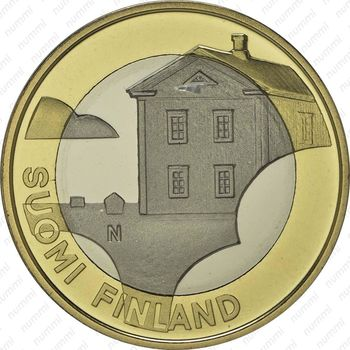 5 евро 2013, дом - Аверс