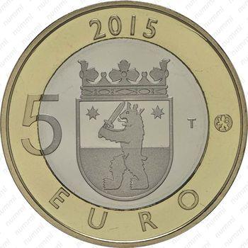 5 евро 2015, бобр - Аверс