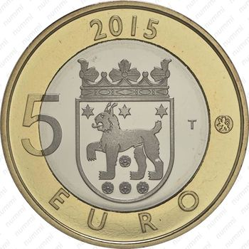 5 евро 2015, рысь - Аверс