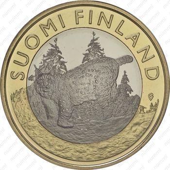 5 евро 2015, рысь - Реверс