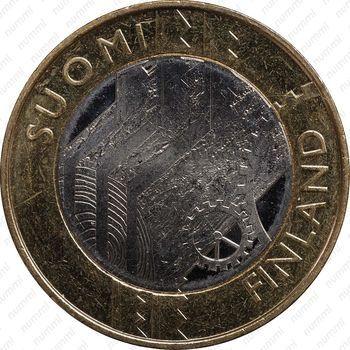 Медно-никелевая монета 5 евро 2011, Уусимаа (аверс)