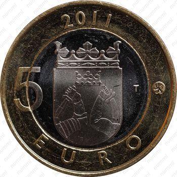 Медно-никелевая монета 5 евро 2011, Карелия (реверс)